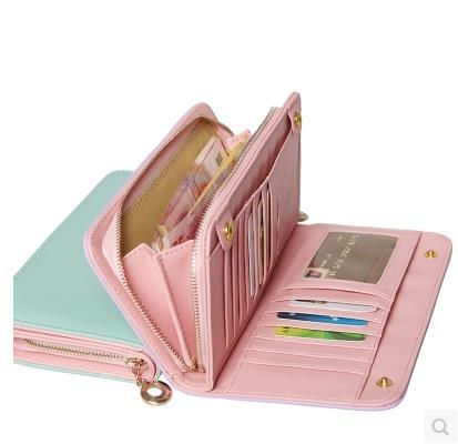 Men Wallets Special Offer Bag Purse 2015 Latest Wallet Long Korean Version of High-capacity Multi-card Position Zipper Money(China (Mainland))