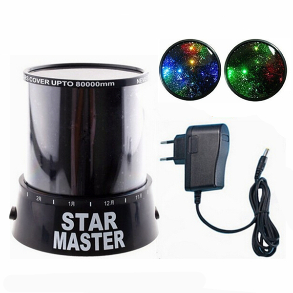 Direct manufacturers led star light, Star Projector Nightlight,overhead projector,power supply adapter+Night light European plug(China (Mainland))