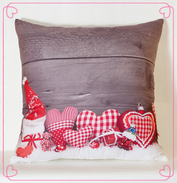 How To Make Cute Decorative Pillows : Aliexpress.com : Buy Christmas gifts as red cap cute love pattern print cushion Throw pillow New ...