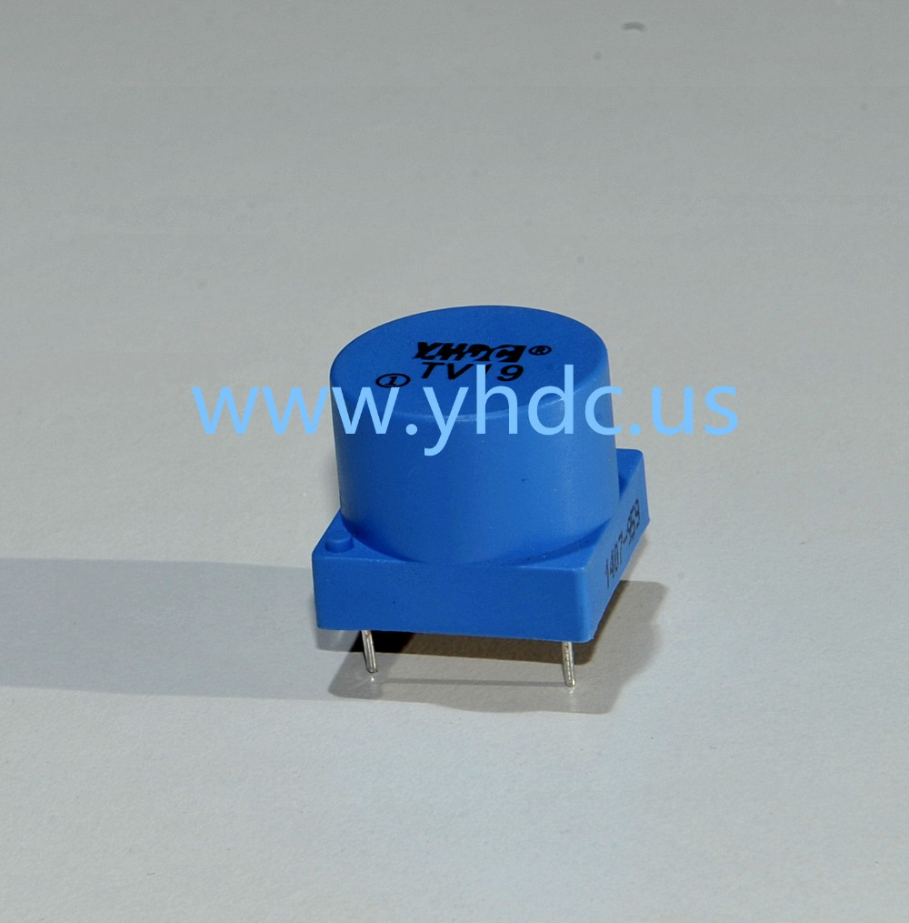 Free shipping YHDC TV19 Voltage 500V Current 5mA/5mA 1000:1000 PCB Welding Linearity 0.2 Mini Current Voltage Transformer(China (Mainland))