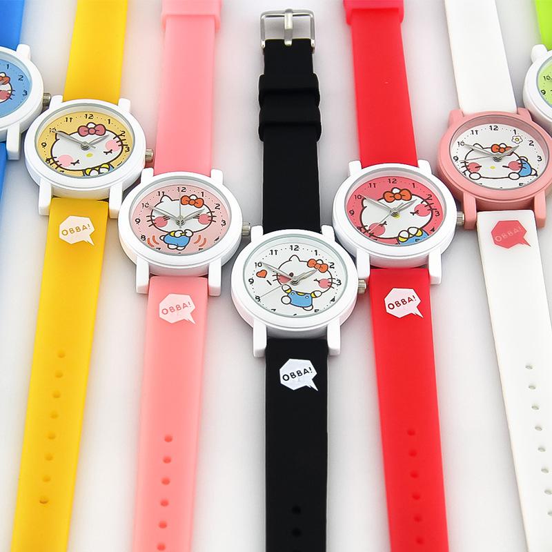 1pc Hello Kitty Christmas Gift Boys Girls Fashion Casual Cartoon Children s Quartz Watches