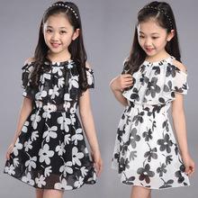 Summer Girl Floral Chiffon Tank Dress  Kid Clothing 3-16 Years old