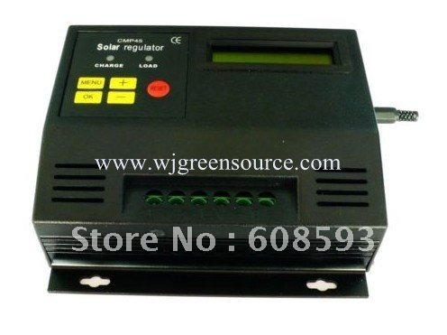 Freeshipping! 50A LCD display Solar Regulator solar Charge controller 12/24V auto PWM control charger for solar energy promotion