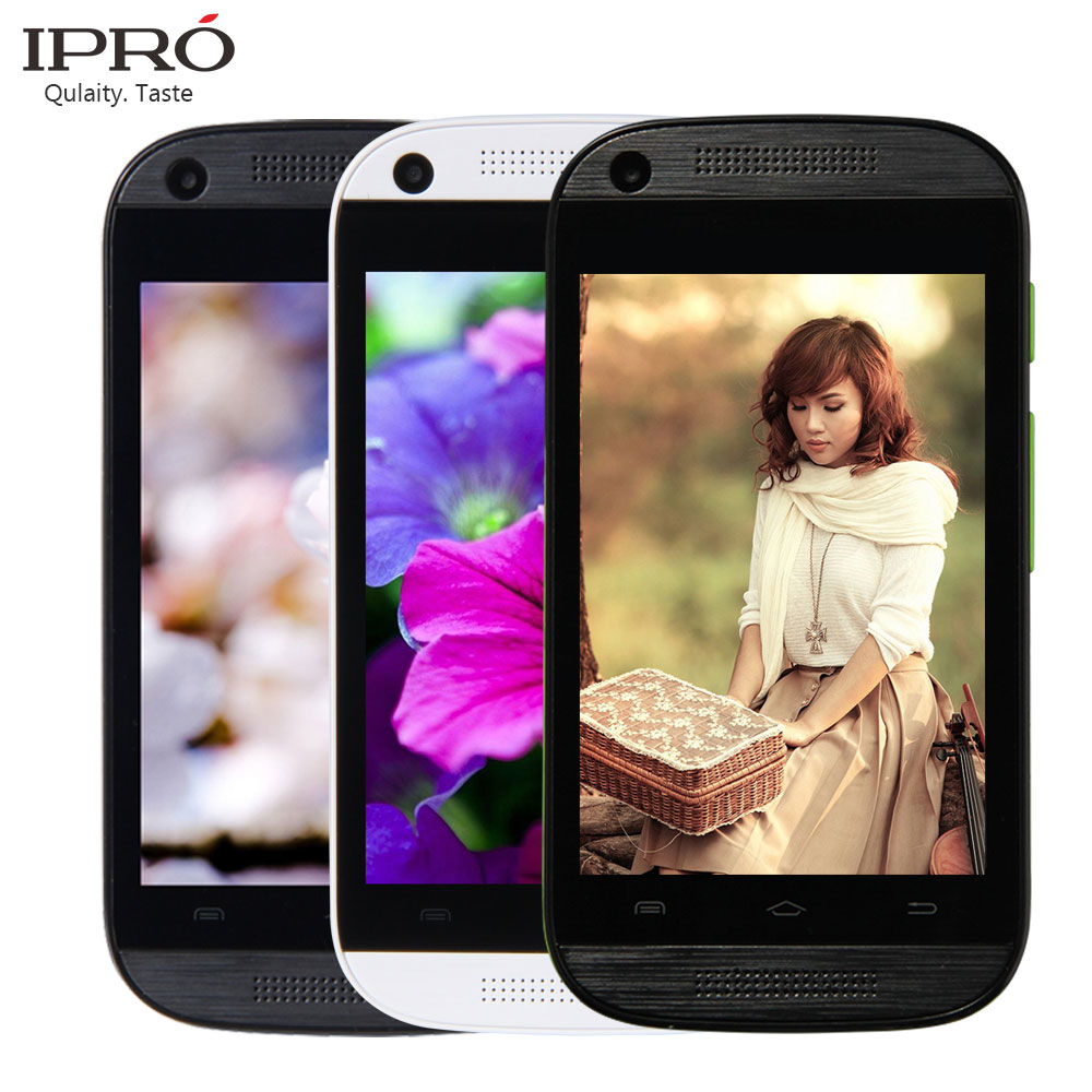 IPRO Original 2G/3G 3.5 Inch Android 4.4 Smartphone Dual SIM Russian Celular Mobile Phone LCD Screen Cell Phones MTK6571(China (Mainland))
