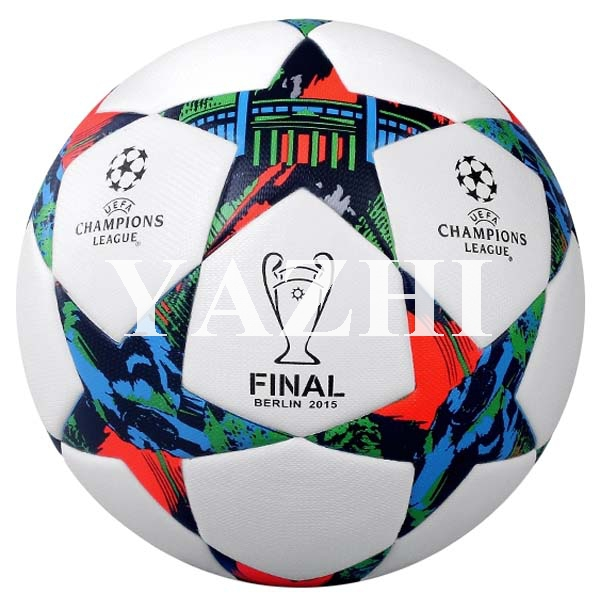 Free Shipping Hot Sale 2015 Berlin Champion League Balls Final Soccer Ball PU Laminated Official Size 5 Football For Match(China (Mainland))