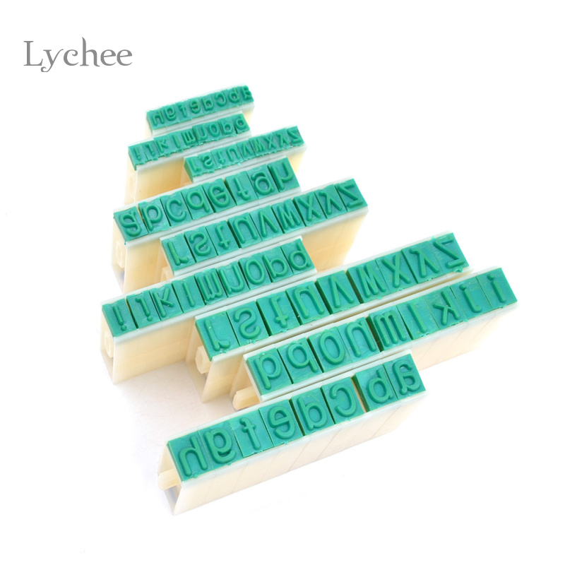 1 Set Detachable English Alphabet Letter Stamp Plastic Rubber Stamps Scrapbooking Set for Marking(China (Mainland))