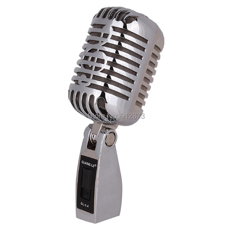 Free shipping Professional Karaoke Microphone Retro Classic KTV Microfone for Computer Network(China (Mainland))
