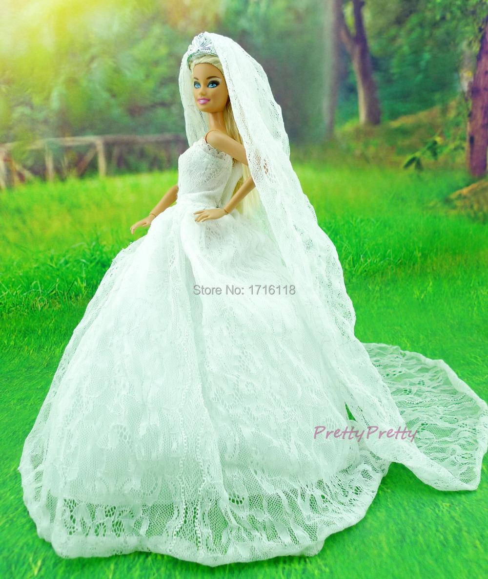 Как сшить для куклы барби с свадебных платьях 512