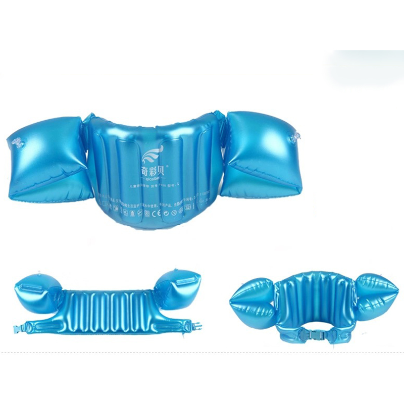 New Children's Inflatable Vest Baby Learning Equipment Swim Floating Baby Ring Life Jackets+Arm Circle Sleeves Combination(China (Mainland))