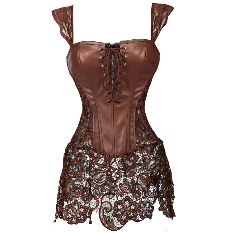 X Steampunk Corset Gothic Clothing Dresses Lace Waist Training Corsets Bustiers Sexy Lingerie Corselet Multi Color Plus Size(China (Mainland))