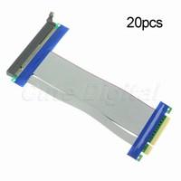 Экспресс новый расширитель гибкие ленты расширение адаптер для компьютера pc 20шт pci-e 8 x до 16 x елочка