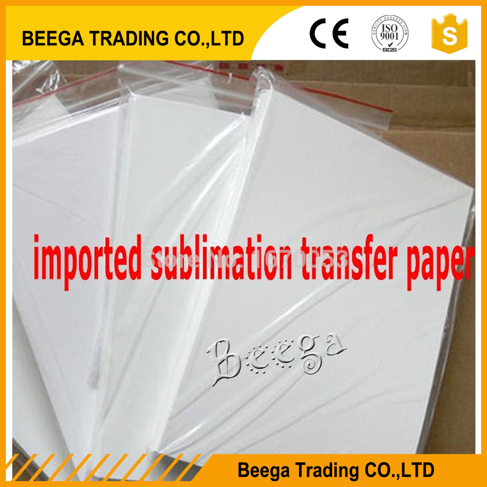 20PCS A4 size blank DIY heat transfer sublimation paper, mug/plastic/T-shirts, EPSON inkjet printer available(China (Mainland))
