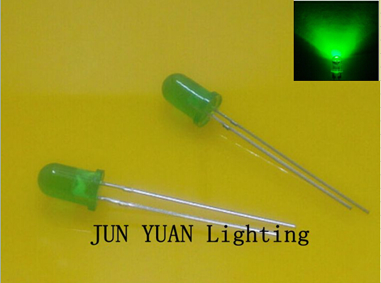 Long legs 5mm round type Green Mist diffused LED,Glows green,1.9~2.0V,800~1000mcd,1000pcs/lot,Free shipping!(China (Mainland))