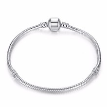 Classic Snake Chain Bracelet Silver Plated Snake Chain Fit Original pandora Bracelet Baby Bracelets For Men Women DIY Jewelry(China (Mainland))
