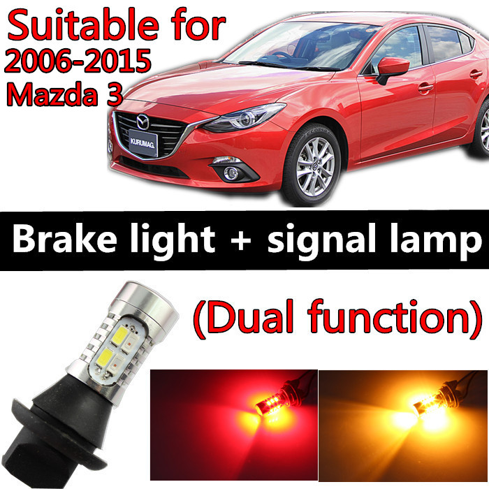 for mazda 3 accessories 2006-2015 LED Light Bulb Tail Break Stop Turn Signal light Two function Collision prevention(China (Mainland))