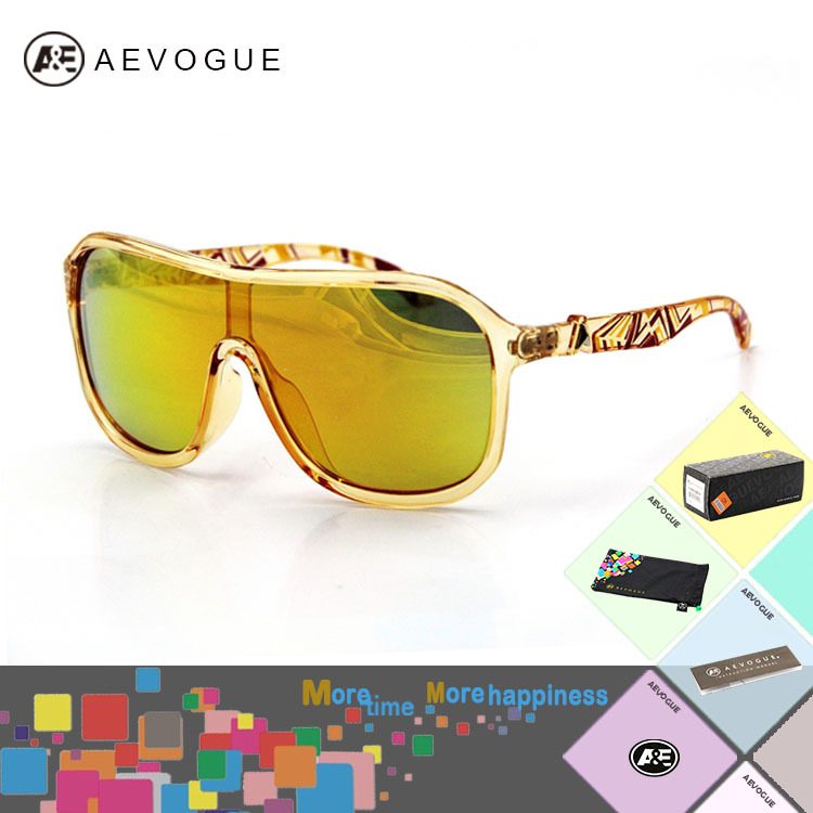 Retail aevogue Big frame Multicolor integrally lens Outdoor Sports Sunglasses men Sun Glasses gafas oculos de sol CE DT0278(China (Mainland))