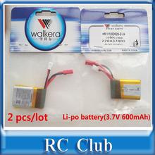 2 PCS/ Lot Original Battery Li-po battery(3.7V 600mAh) Walkera QR W100S / NEW V120D02S HM-V120D02S-Z-24 - RC Club store