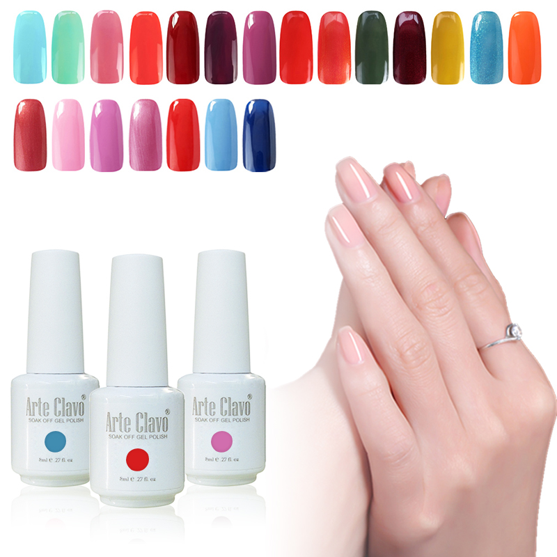 Nail Gel 8ml Arte Clavo 1 Color Luxury Nail Art Gel Polish Soak Off Professional Nail UV Gel Polish Nail(China (Mainland))