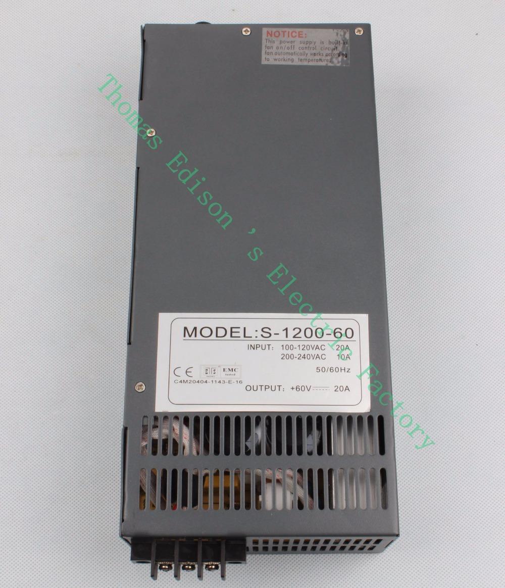 Импульсный источник питания - 1200 60V AC DC 110v 1200W 220v s-1200 60v