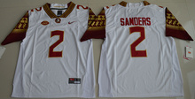 High Quality Nike 2017 Florida State Seminoles Deion Sanders 2 College Basketball Limited Jersey - White Size S,M,L,XL,2XL,3XL T(China (Mainland))