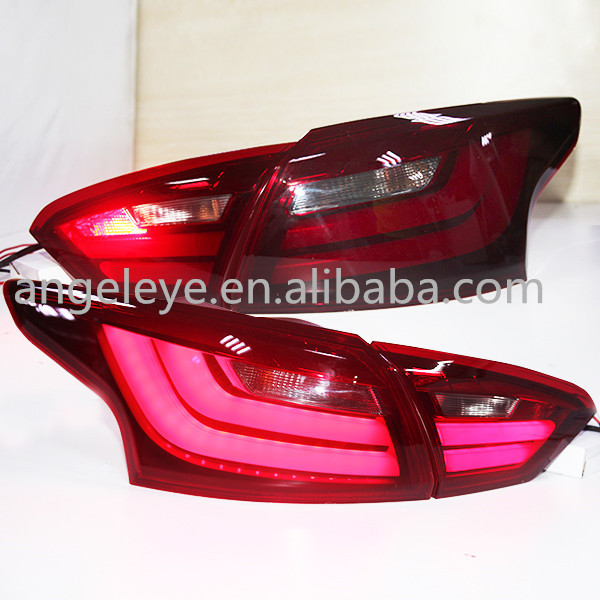 For New Focus 3 LED Strip Tail Lamp rear light for FORD Sedan 2012-2014 year BMW Style dark red color(China (Mainland))