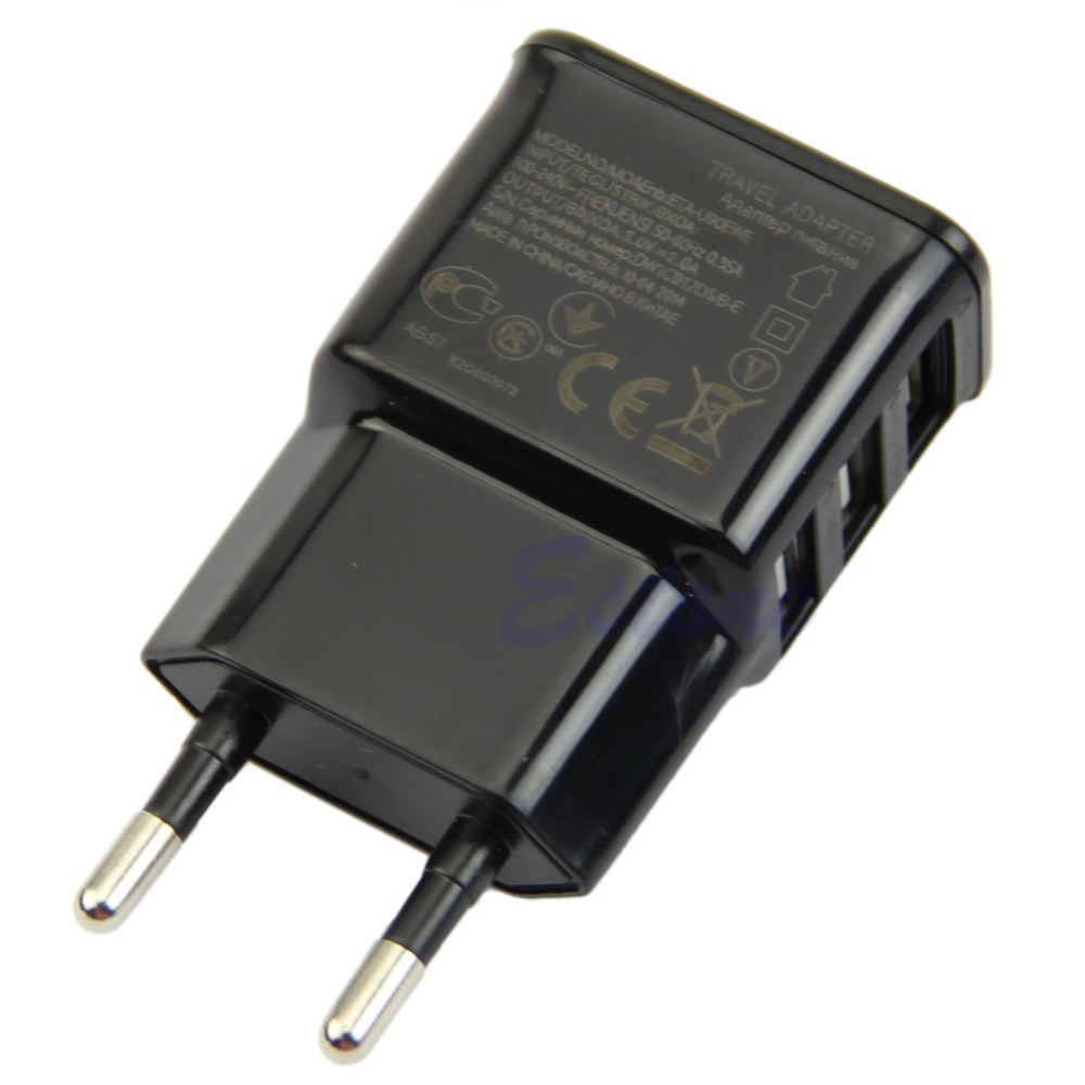 C18 2015 New 3 Port EU Plug USB Wall Travel AC Charger Adapter For Phone free shipping(China (Mainland))