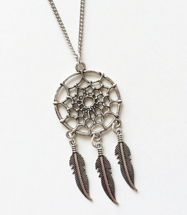 10PCS Fashion Vintage Silver Dream Catcher Feather Charm Sweater Pendants For Necklace&Bracelets Jewelry Findings Gift B688(China (Mainland))