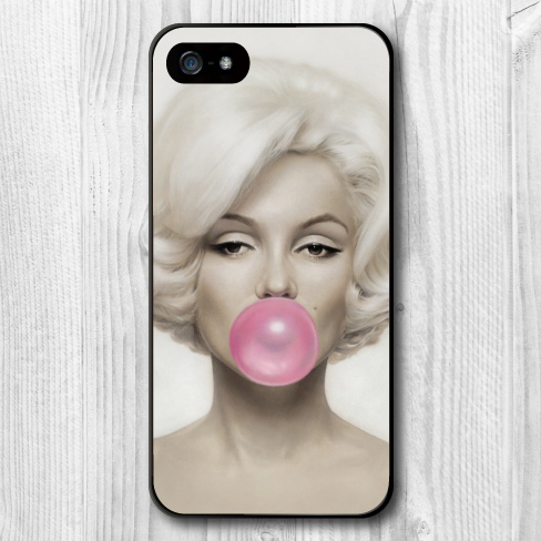 Marilyn Monroe Bubble Gum Hard Cover Case iPhone 5 5S Brand New Phone Cases Support Retail - Babe Supply store