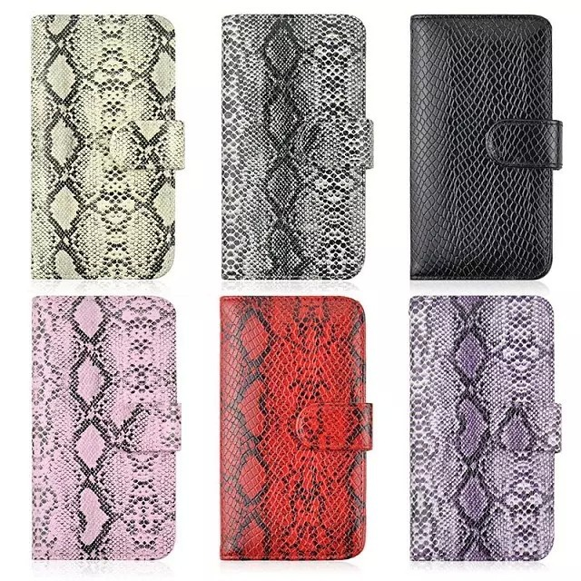 samsung galaxy S6 cell phone card wallet Snakeskin pattern PU Leather flip stand protection cover case - Chinese mobile electronic city store