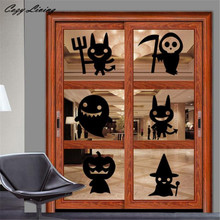Buy Wall Stickers Death Decor Halloween Wall Sticker Window Home Decoration Cartoon Removable Wallpaper Home Decor Art D9 for $2.86 in AliExpress store