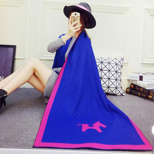 2016 Scarfs for Women Autumn&Winter Ladies Scarf Brand Horse Cashmere Scarf Wholesale Double Side Warm Shawl Designer Scarves(China (Mainland))