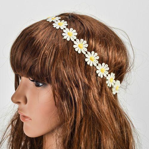 Bohemian headbands Little Daisy sun flower hairwear Bohemia headband Elastic hair accessories(China (Mainland))