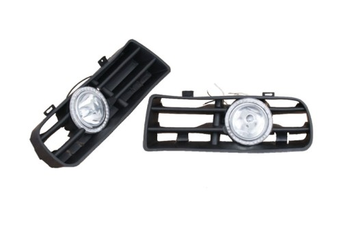 Free Shipping Car styling Bumper Grille Front Fog Light Kit With LED Surround for Golf MK4(China (Mainland))
