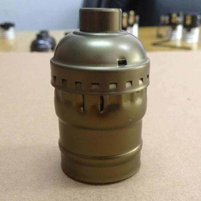 Гаджет  E27/E26 Aluminum shell Lamp holder electric light socket; lamp cap ;Lamp Bases ; adapter  bronze color .no switch None Свет и освещение
