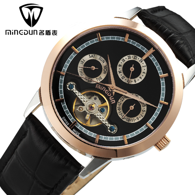 Fully-automatic mechanical watch mens watch business casual male really strap watch vintage table