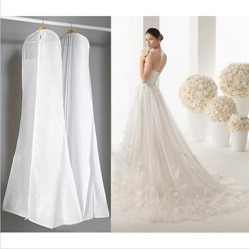 New Non-Woven Fabric & Plastic Wedding Dresses Garment Dust Proof Cover Bags 180cm*80*22cm Storage Bags For Clothes#S523(China (Mainland))