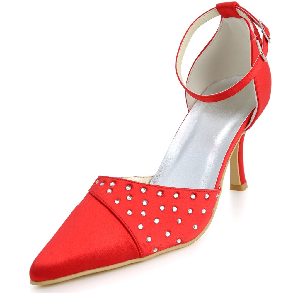 High Quality Red Satin Dress Shoes Promotion-Shop for High Quality ...