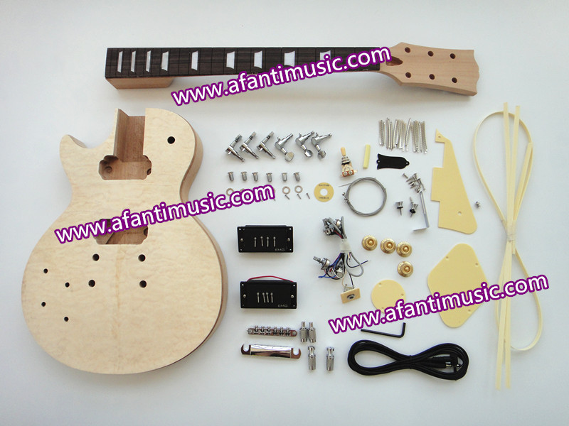 Afanti Music / Left hand version / Quilted Maple Top / LP Standard DIY Electric guitar kit (SDD-165K)<br><br>Aliexpress