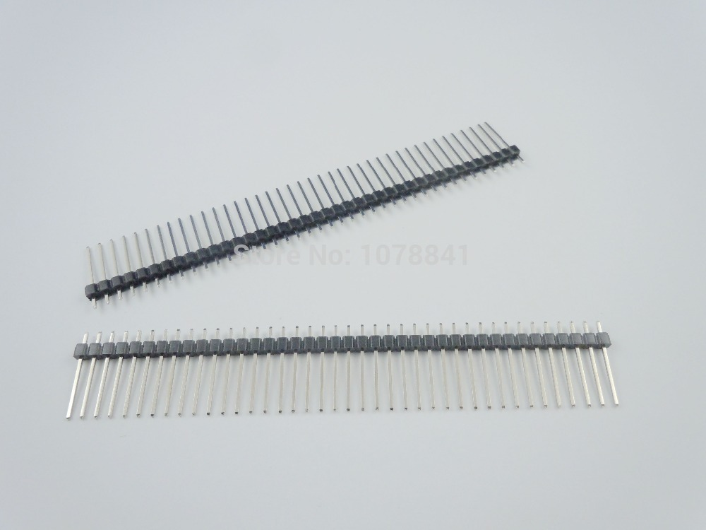 100 Pcs Per Lot 2.54mm 40 Pin Male Single Row Straight Pin Header Strip Pin Length 17mm от Aliexpress INT