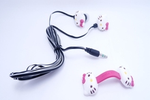 New Cartoon 3.5mm In-ear Stereo Earphones Headphones Hello Kitty Design Mobile Phone MP3 Music Player Accessories(China (Mainland))