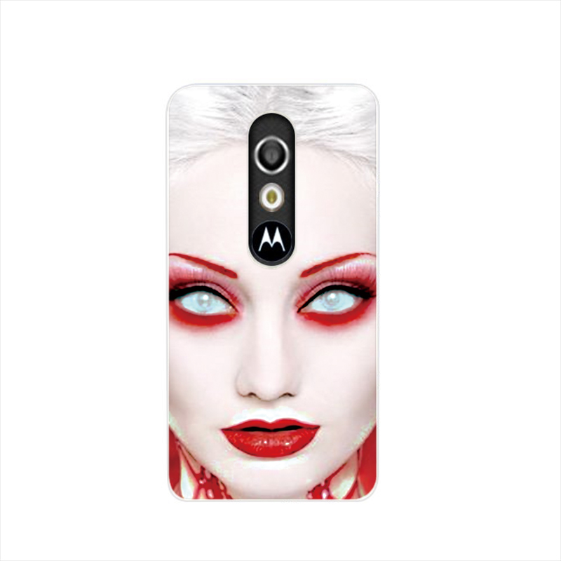 15641 Clown Happy Make Up Circus Birthday Party cell phone case cover for For Motorola Moto G3 G4 X+1 PLAY PLUS ONE style(China (Mainland))
