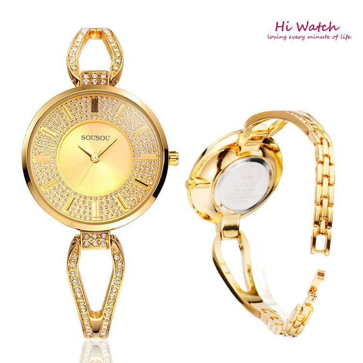 NEW 2014 Quartz OL Wrist Watch for Fashion Women Ladies Bracelet watch Nice Beautiful Gold Silver Wrist watch relogios Free <br><br>Aliexpress