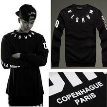 New Spring American Streetwear Men Suit FLSHVN Man Hoody Sweatshirts Print Hiphop Pullover Hoodies Sport Suit Men A025(China (Mainland))