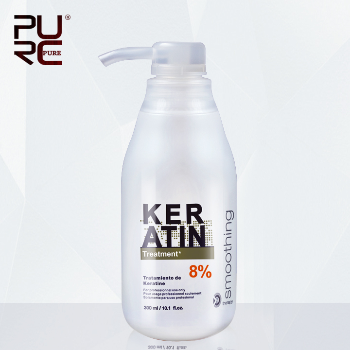 Brazilian Keratin Treatment straightening hair 8% formalin free shipping 300ml Eliminate frizz and have shiny and healthier hair<br><br>Aliexpress