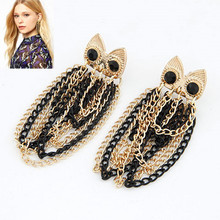 New Fashion Alloy Tassel Earrings orecchini vintage Owl Earrings Fashion Jewelry For Women boucle doreille Wholesale(China (Mainland))