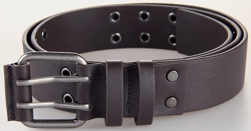 HTB1IgkAOFXXXXXZXpXXq6xXFXXXb - Fashion Style PU Belts For Men Women Male Double Pin Buckle Belt Designer PU Leather Waist Belts Black Rivet Belt Straps 2PU1