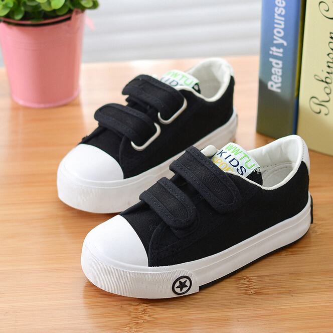 Akarma New Kids Canvas Shoes Low Top Childrens Shoe Boys Girls Fashion Velcro Casual Sneakers Sapato Infantil Size 25-37(China (Mainland))