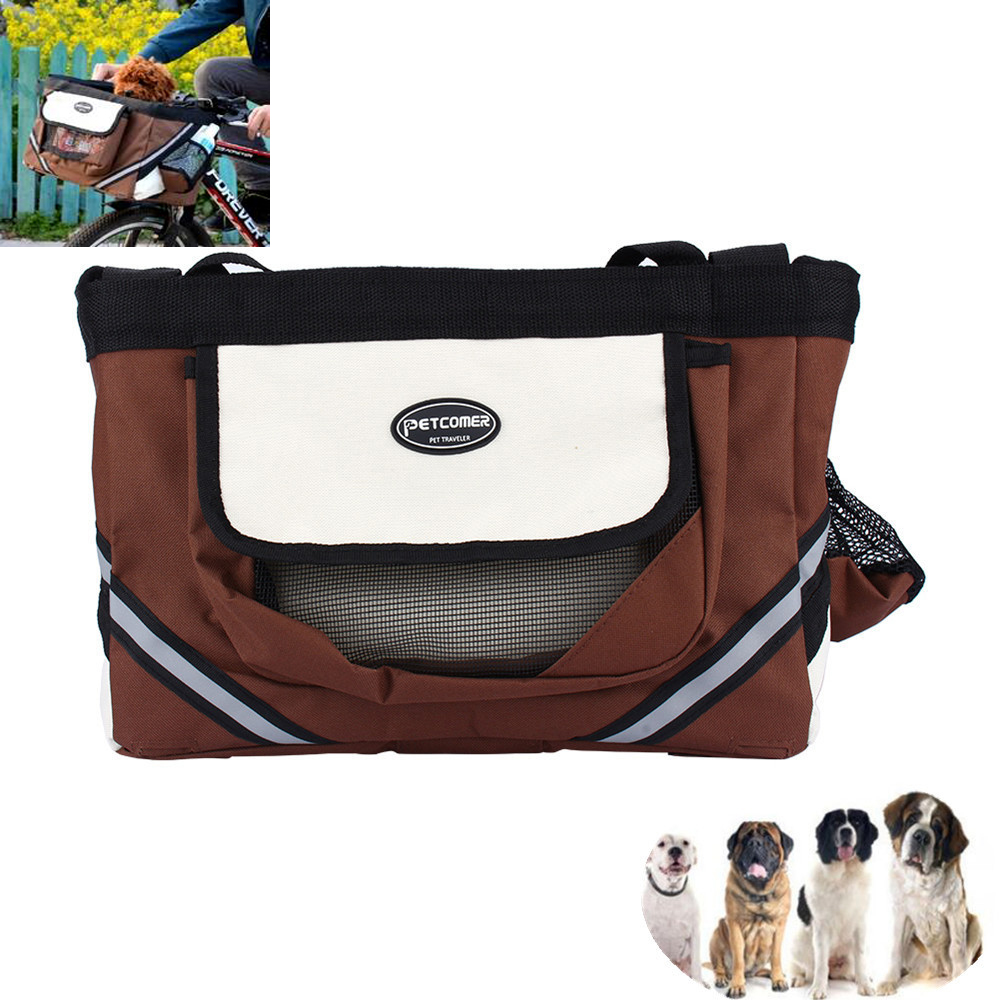 Protable Pet dog bicycle carrier bag basket Puppy Dog Cat Travel bike carrier for small dog pet product coffee black colors(China (Mainland))