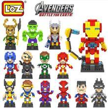 The Avengers Figure LOZ nano blocks New Arrivals Super Hero Diamond Building Blocks Mini DIY Bricks Model Toy Brinquedos Meninos