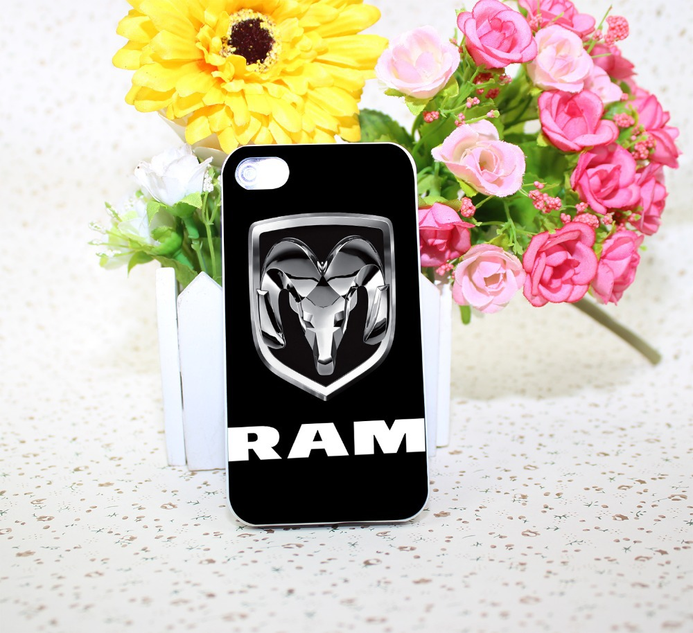 Dodge RAM Pickup Truck Chrome Logo White Hard phone Case Cover for iPhone 4 4s 5 5s 5c 6 6s plus Free Shipping(China (Mainland))